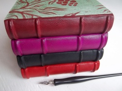 case bound journals with block prints